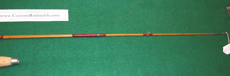 Heddon #8 one-piece  bamboo bait casting rod